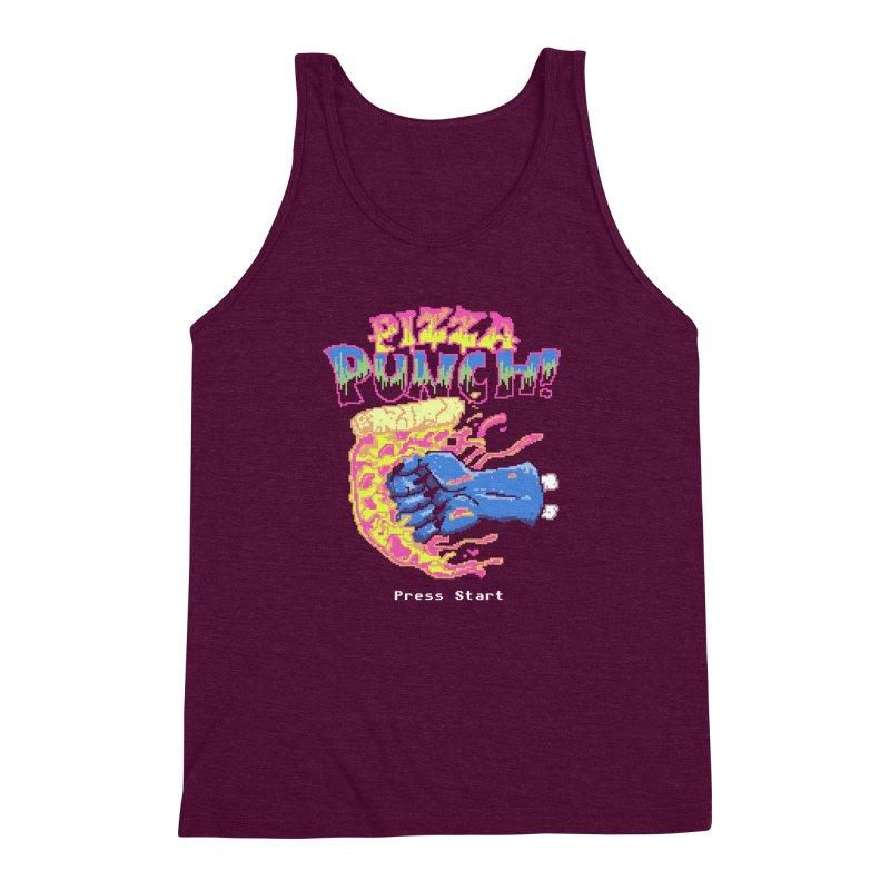 Pizza Punch Men's Triblend Tank by hillarywhiterabbit's Artist Shop