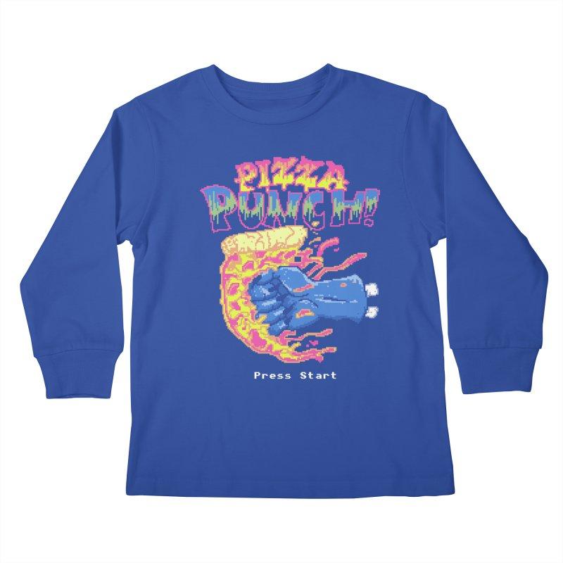Pizza Punch Kids Longsleeve T-Shirt by hillarywhiterabbit's Artist Shop