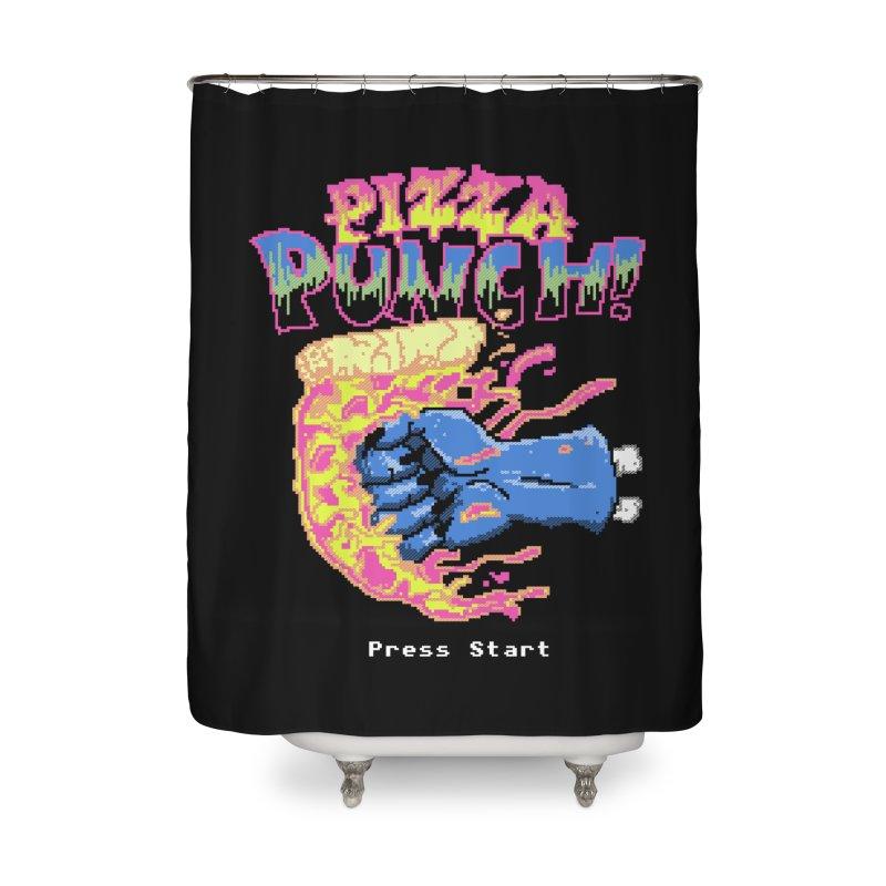 Pizza Punch Home Shower Curtain by hillarywhiterabbit's Artist Shop