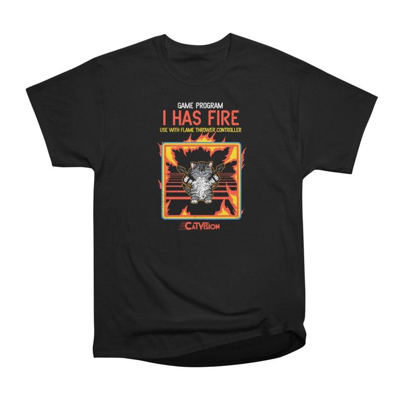I Has Fire Men's Classic T-Shirt by hillarywhiterabbit's Artist Shop