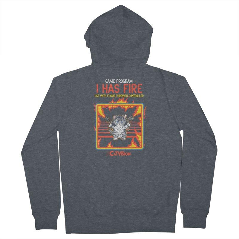 I Has Fire Men's Zip-Up Hoody by hillarywhiterabbit's Artist Shop