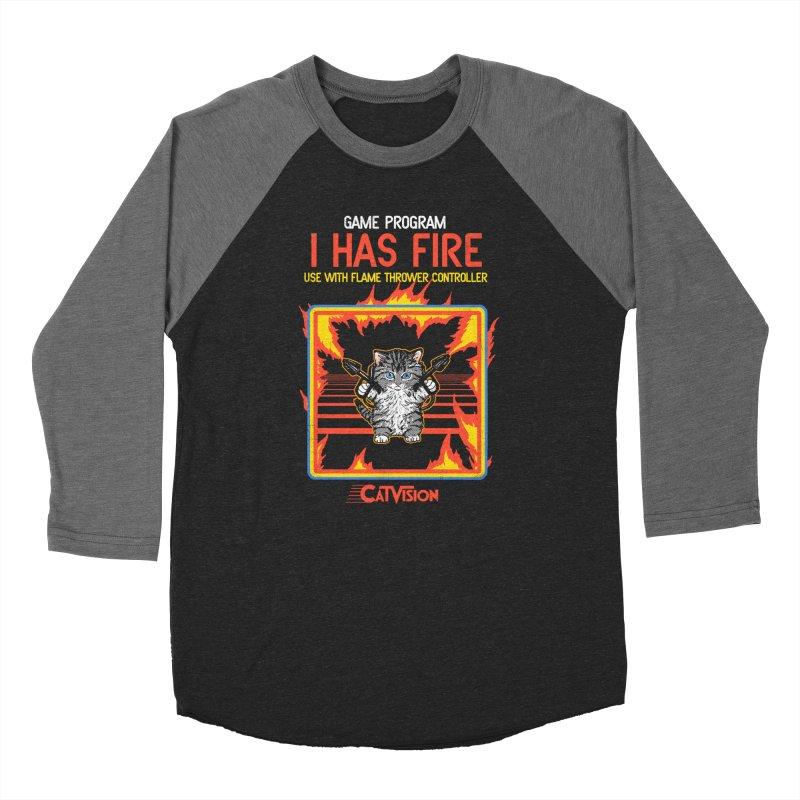 I Has Fire Women's Baseball Triblend T-Shirt by hillarywhiterabbit's Artist Shop