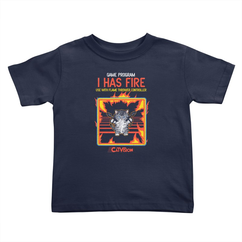 I Has Fire Kids Toddler T-Shirt by hillarywhiterabbit's Artist Shop