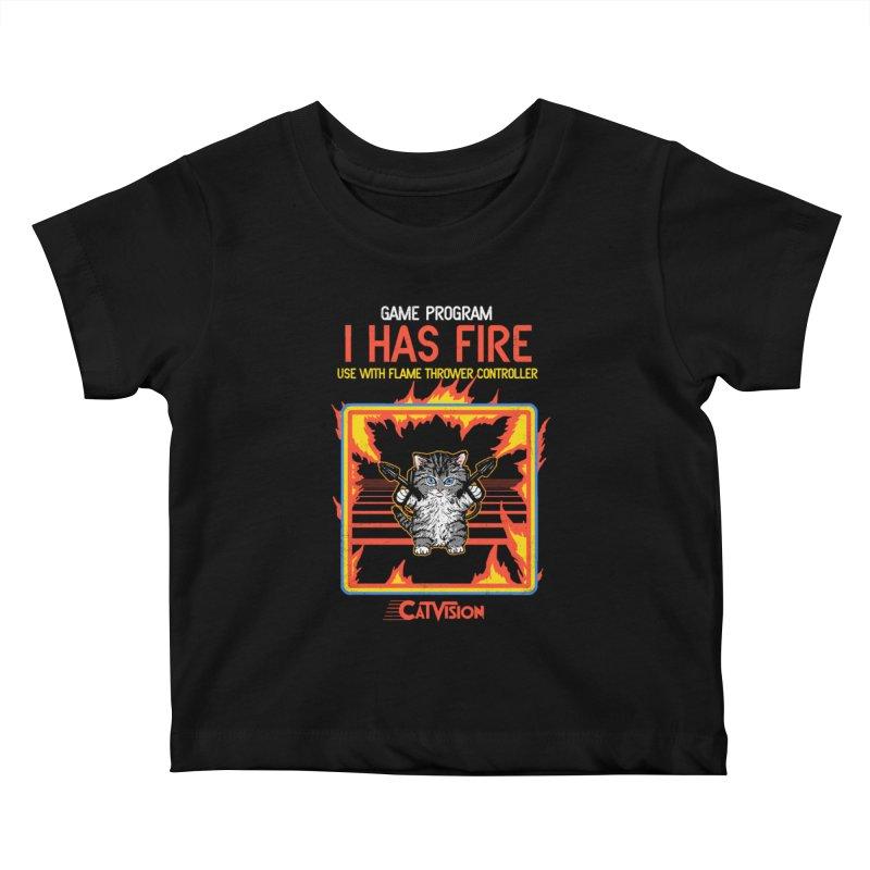 I Has Fire Kids Baby T-Shirt by hillarywhiterabbit's Artist Shop