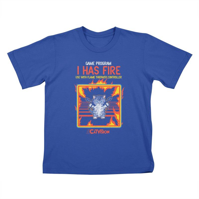 I Has Fire Kids T-shirt by hillarywhiterabbit's Artist Shop