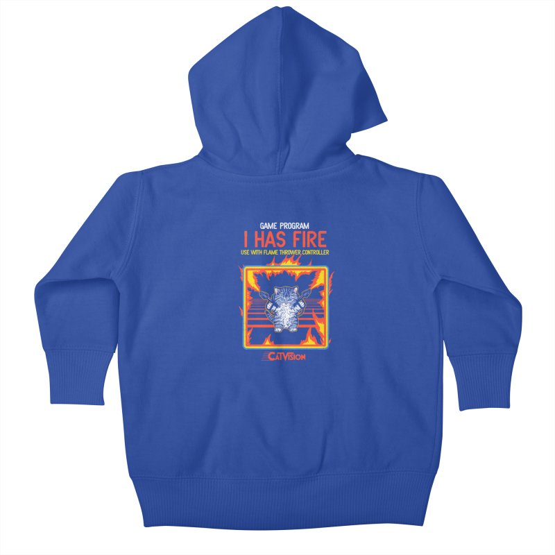 I Has Fire Kids Baby Zip-Up Hoody by hillarywhiterabbit's Artist Shop
