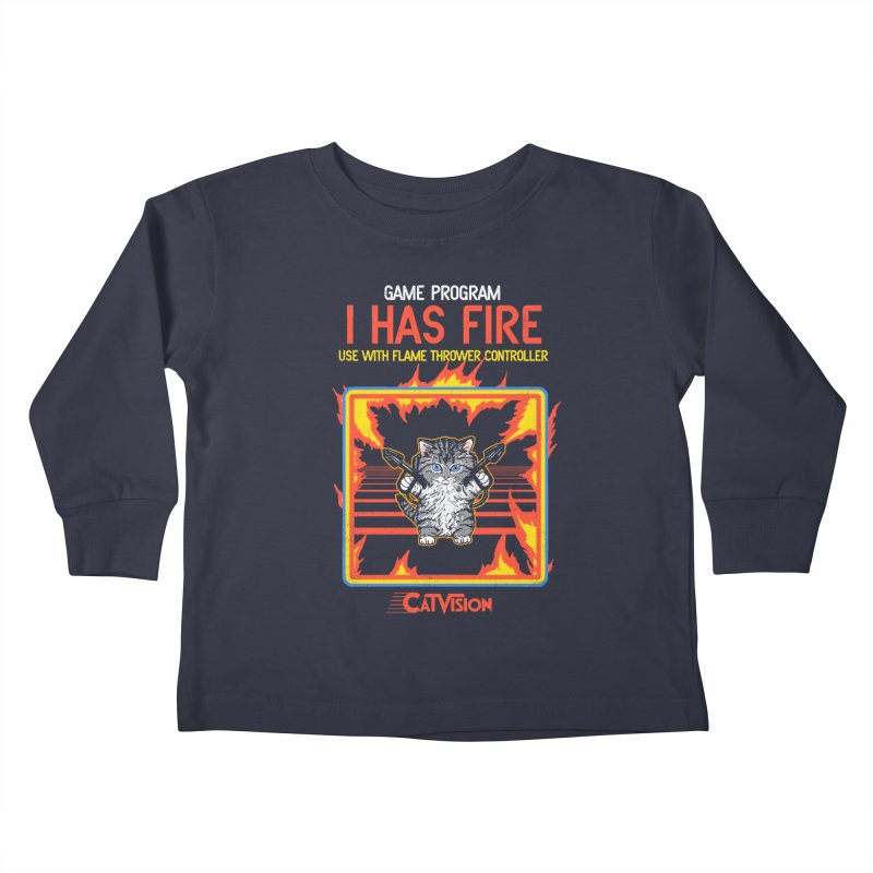 I Has Fire Kids Toddler Longsleeve T-Shirt by hillarywhiterabbit's Artist Shop