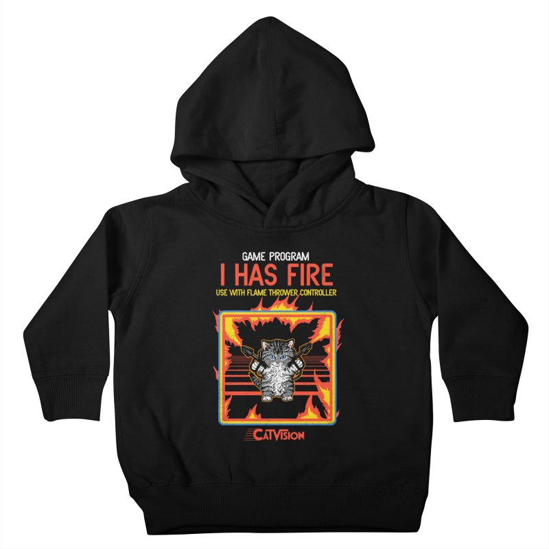 I Has Fire Kids Toddler Pullover Hoody by hillarywhiterabbit's Artist Shop