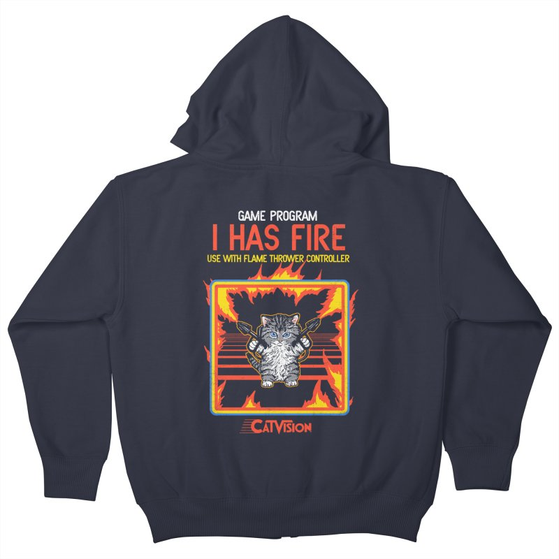 I Has Fire Kids Zip-Up Hoody by hillarywhiterabbit's Artist Shop