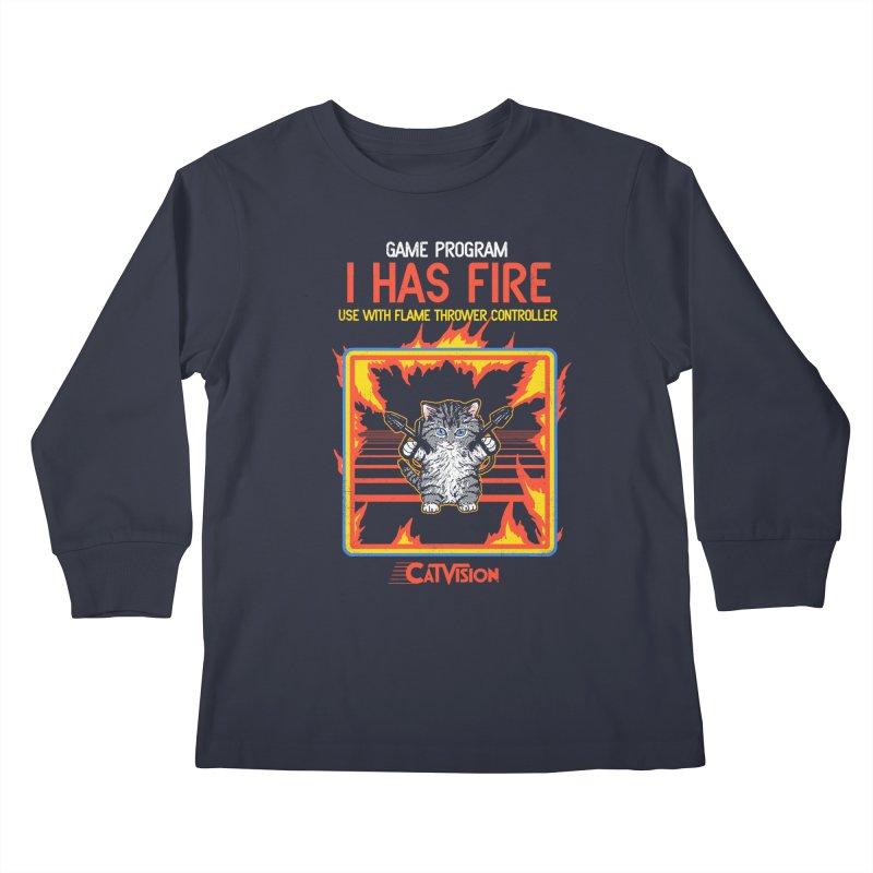 I Has Fire Kids Longsleeve T-Shirt by hillarywhiterabbit's Artist Shop
