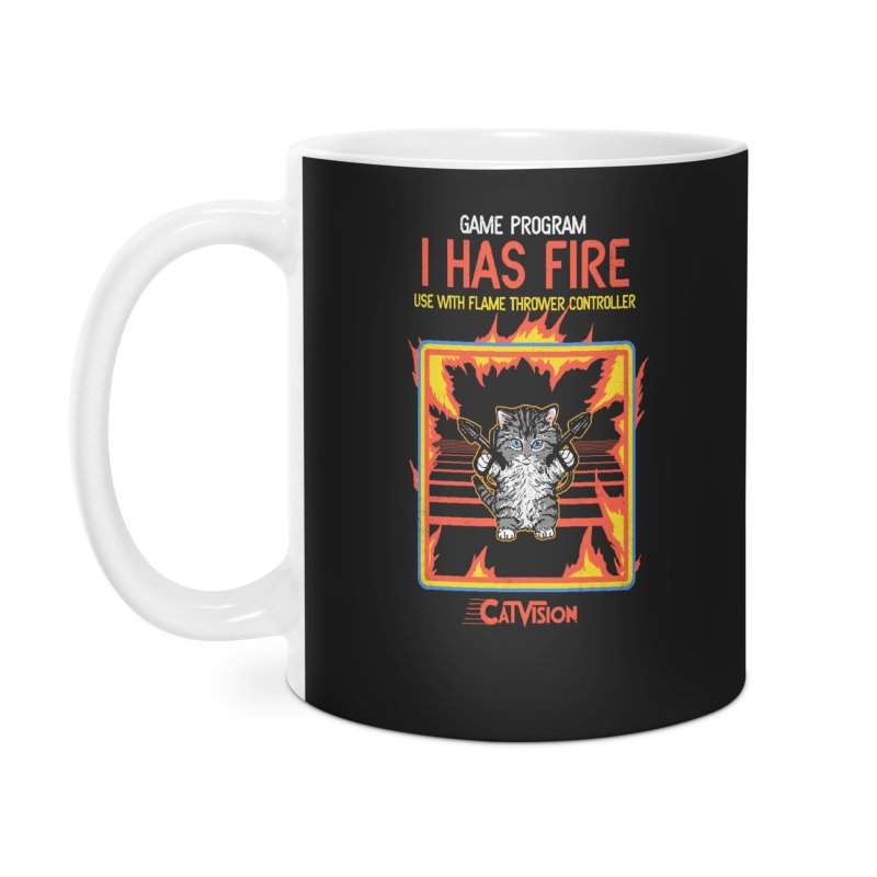 I Has Fire Accessories Mug by hillarywhiterabbit's Artist Shop