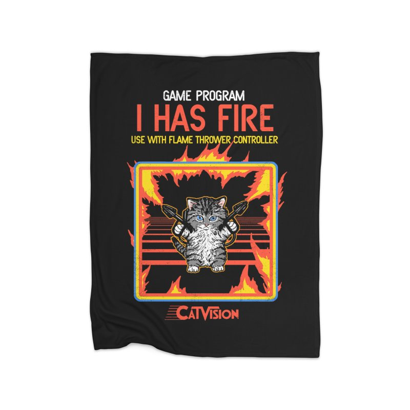 I Has Fire Home Blanket by hillarywhiterabbit's Artist Shop