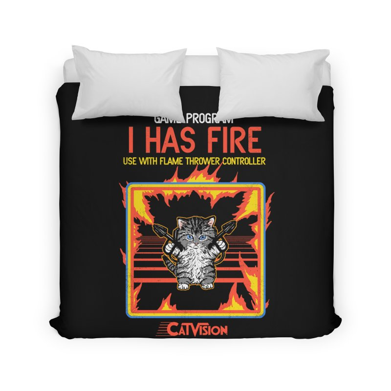 I Has Fire Home Duvet by hillarywhiterabbit's Artist Shop
