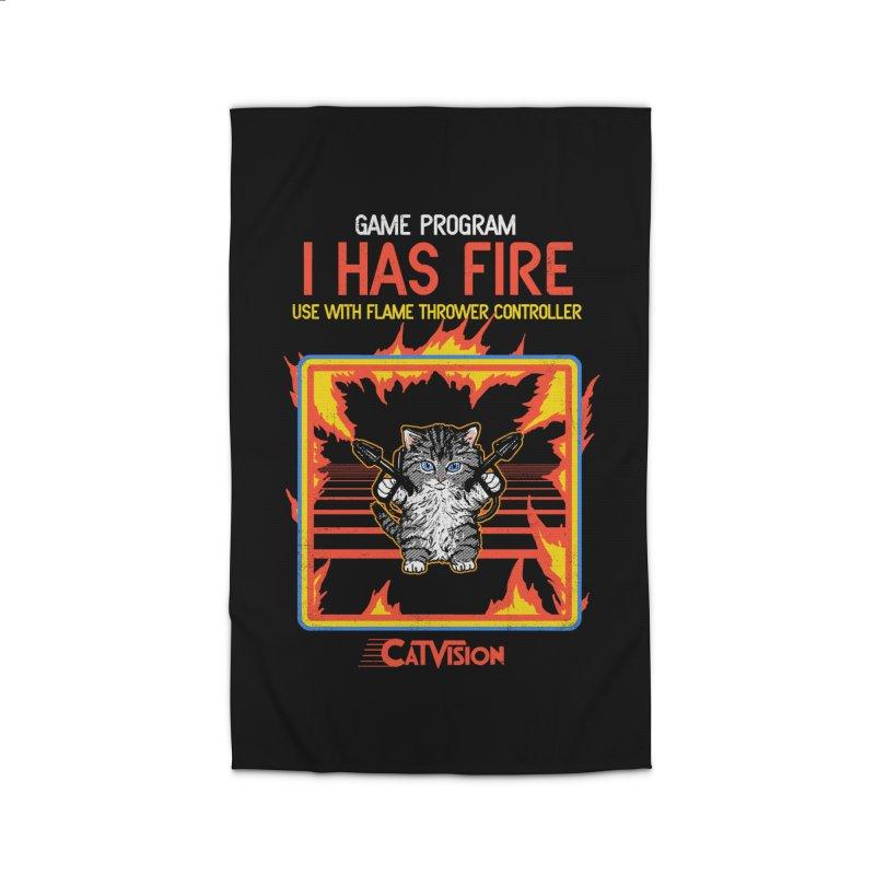 I Has Fire Home Rug by hillarywhiterabbit's Artist Shop