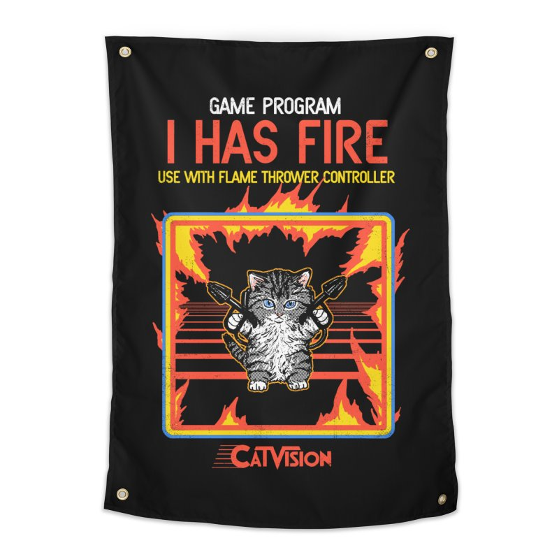I Has Fire Home Tapestry by hillarywhiterabbit's Artist Shop