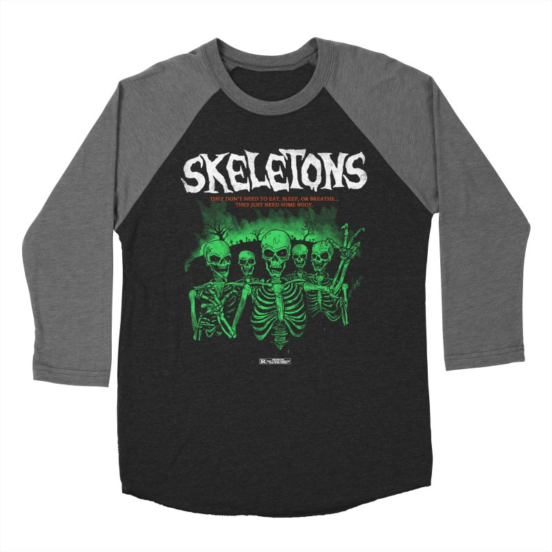 Skeletons Men's Baseball Triblend T-Shirt by hillarywhiterabbit's Artist Shop