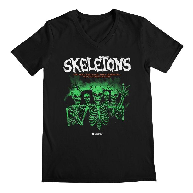 Skeletons Men's V-Neck by hillarywhiterabbit's Artist Shop