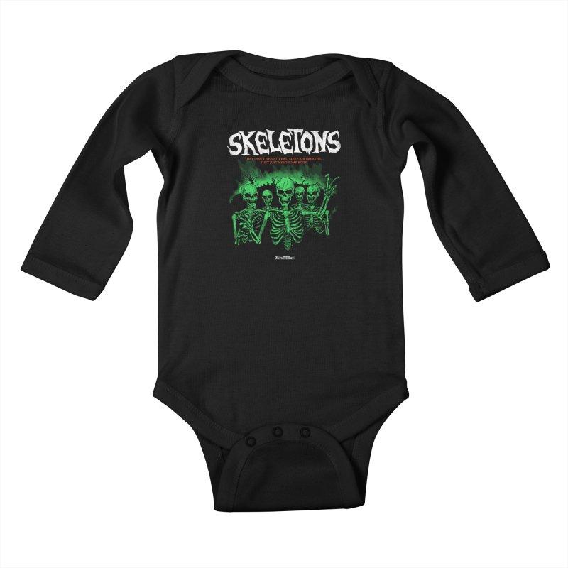 Skeletons Kids Baby Longsleeve Bodysuit by hillarywhiterabbit's Artist Shop