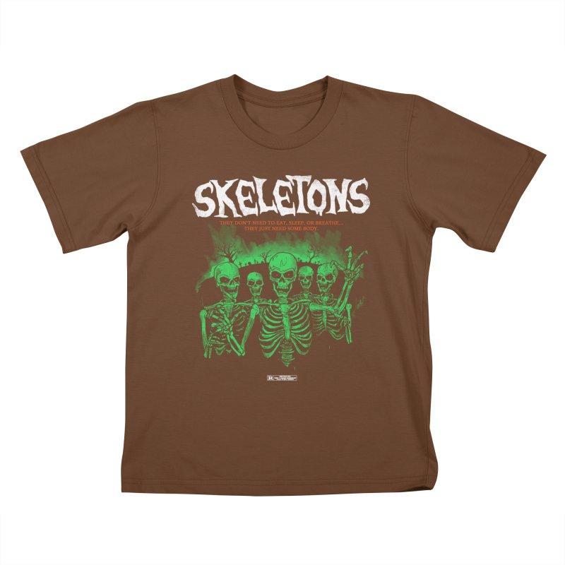 Skeletons Kids T-shirt by hillarywhiterabbit's Artist Shop
