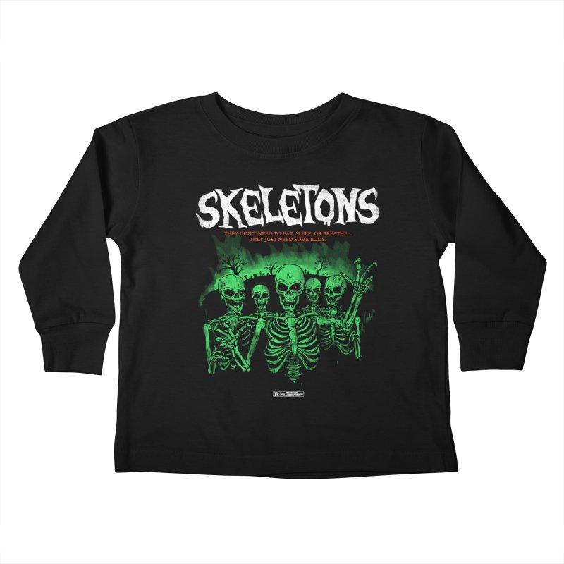 Skeletons Kids Toddler Longsleeve T-Shirt by hillarywhiterabbit's Artist Shop