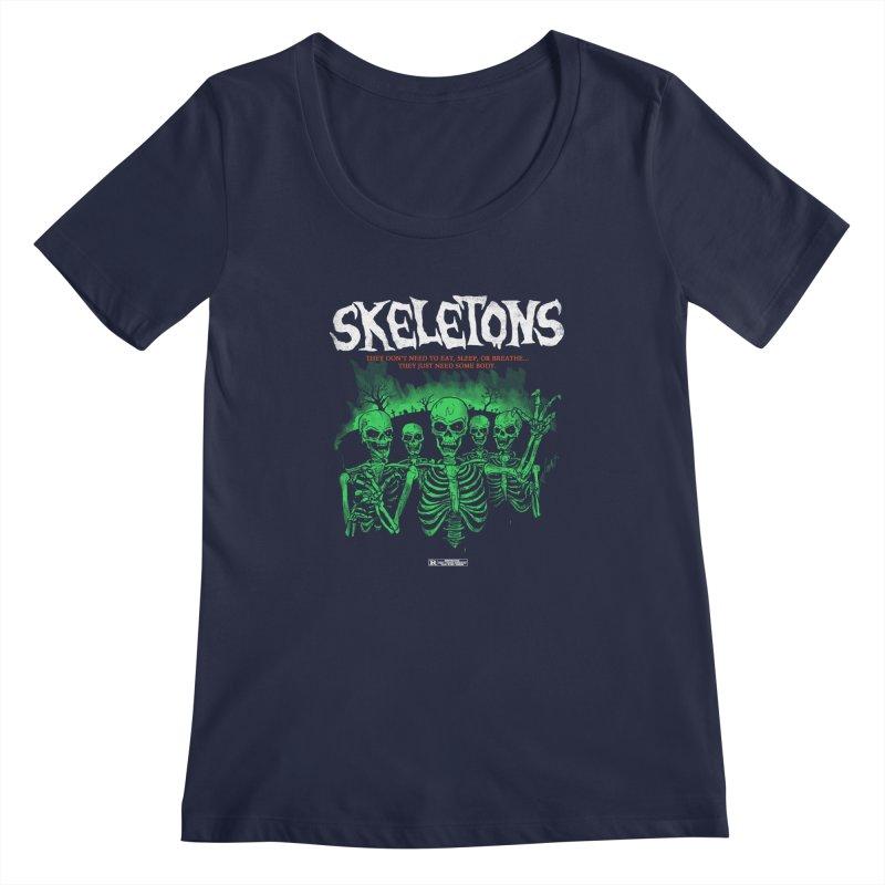 Skeletons Women's Scoopneck by hillarywhiterabbit's Artist Shop