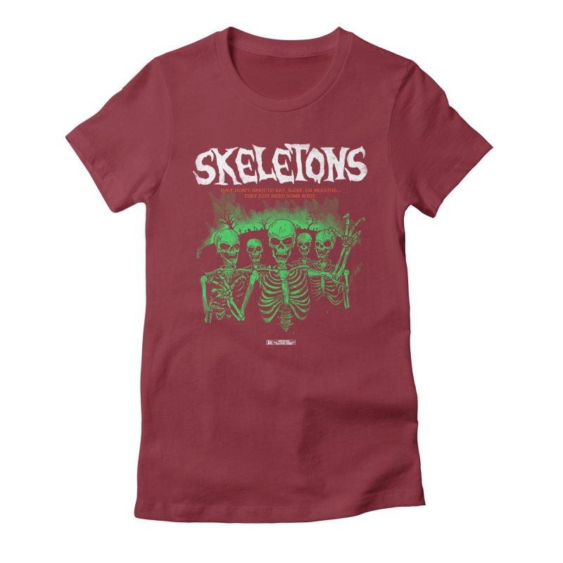 Skeletons Women's Fitted T-Shirt by hillarywhiterabbit's Artist Shop