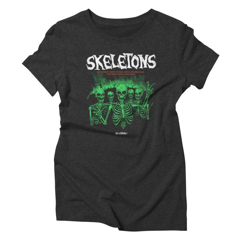 Skeletons Women's Triblend T-shirt by hillarywhiterabbit's Artist Shop