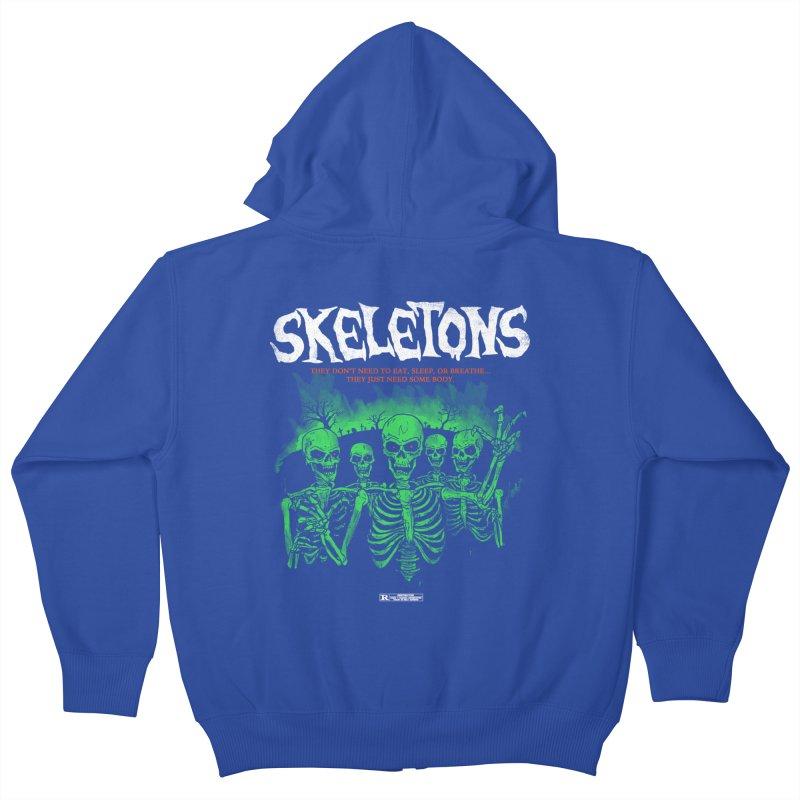 Skeletons Kids Zip-Up Hoody by hillarywhiterabbit's Artist Shop