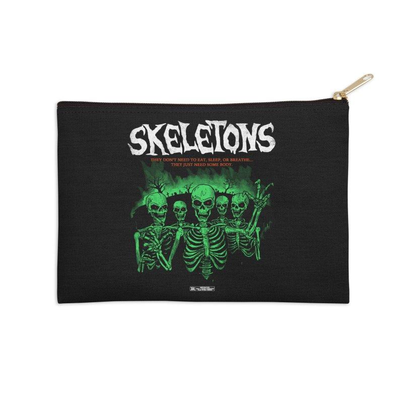 Skeletons Accessories Zip Pouch by hillarywhiterabbit's Artist Shop