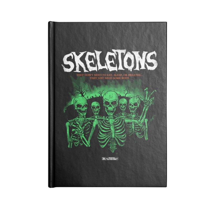 Skeletons Accessories Notebook by hillarywhiterabbit's Artist Shop