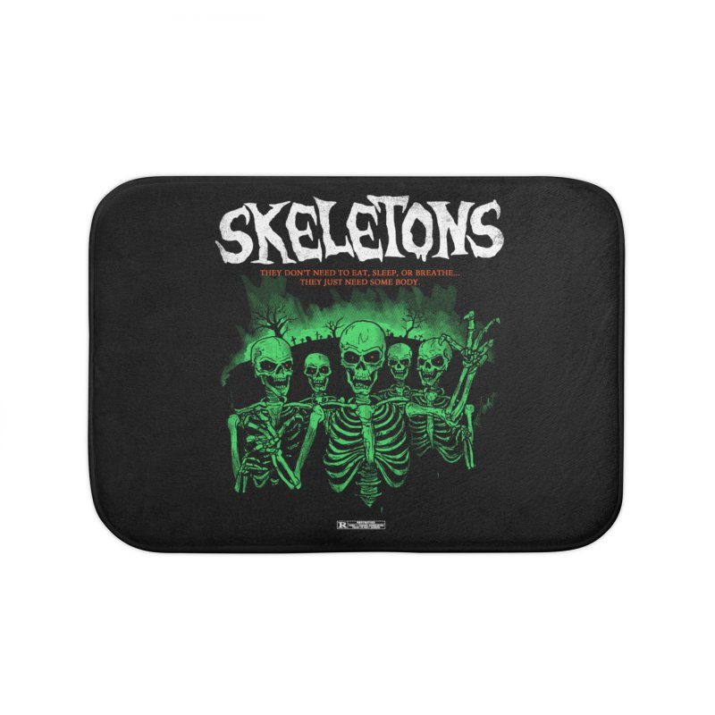 Skeletons Home Bath Mat by hillarywhiterabbit's Artist Shop