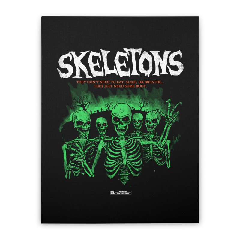 Skeletons Home Stretched Canvas by hillarywhiterabbit's Artist Shop