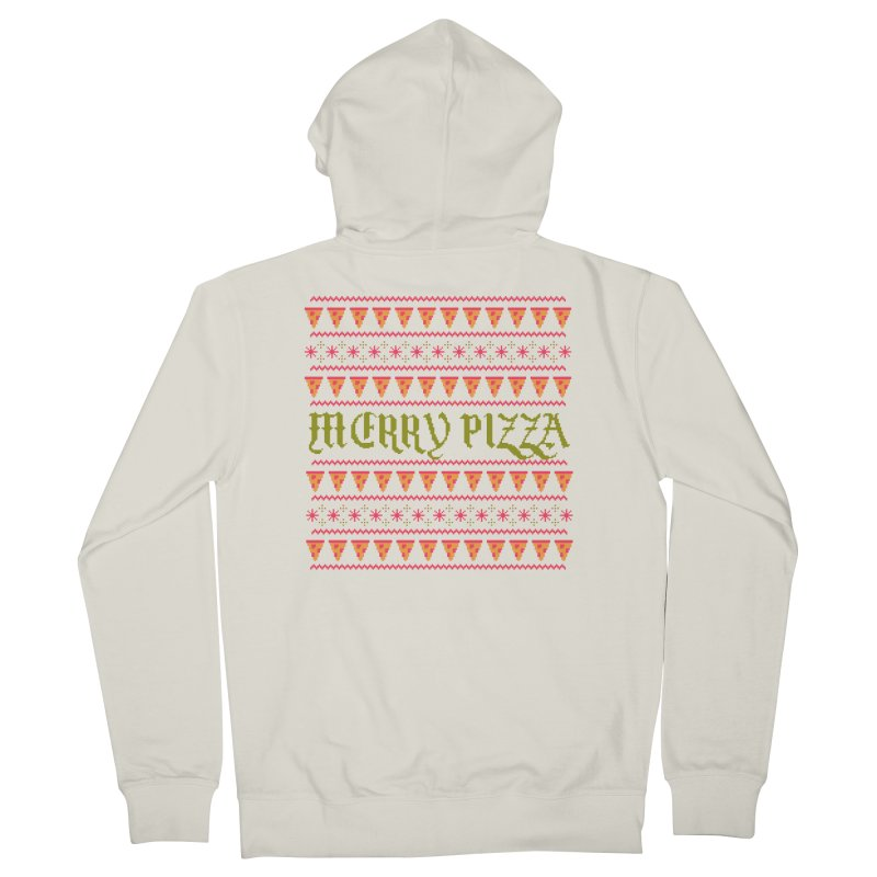 Merry Pizza Women's Zip-Up Hoody by hillarywhiterabbit's Artist Shop