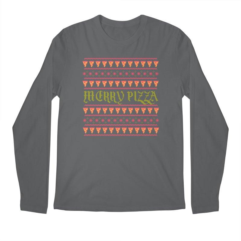 Merry Pizza Men's Longsleeve T-Shirt by hillarywhiterabbit's Artist Shop