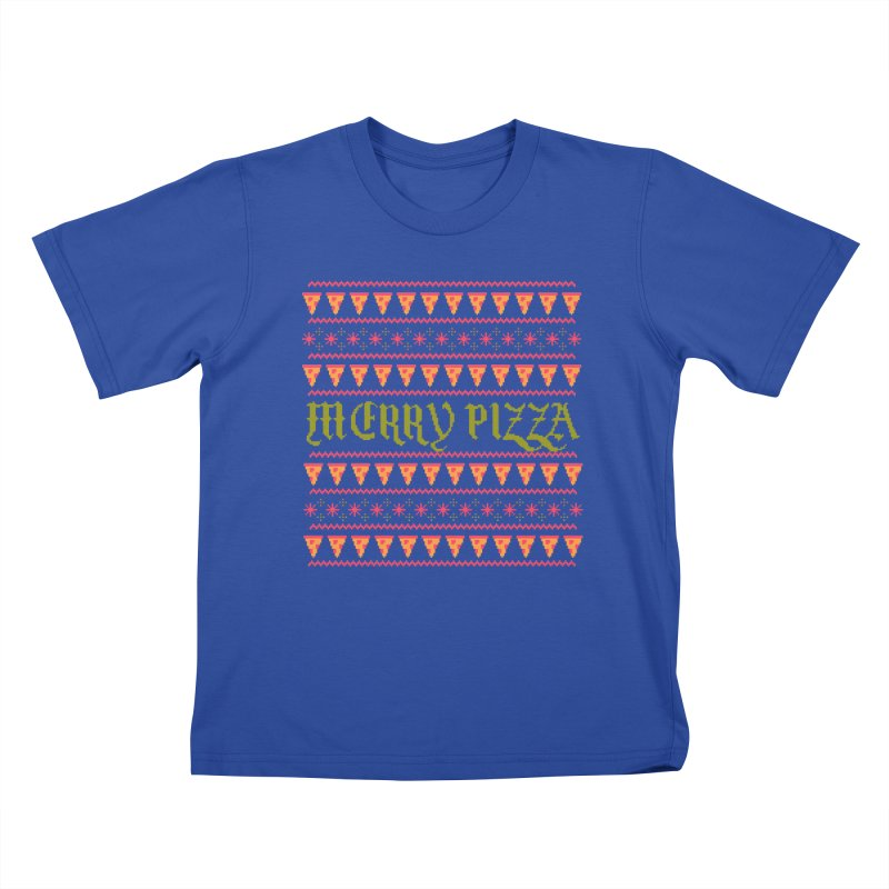 Merry Pizza Kids T-shirt by hillarywhiterabbit's Artist Shop
