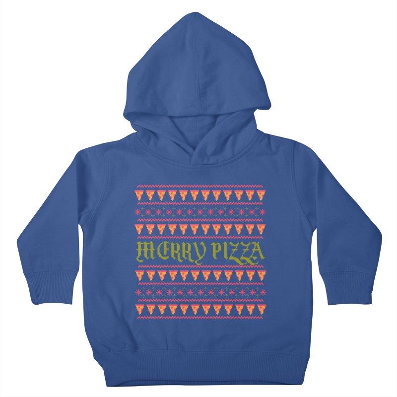 Merry Pizza Kids Toddler Pullover Hoody by hillarywhiterabbit's Artist Shop