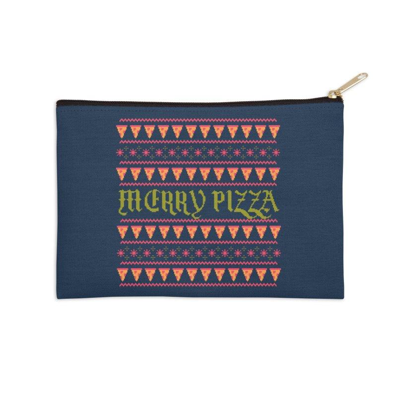 Merry Pizza Accessories Zip Pouch by hillarywhiterabbit's Artist Shop