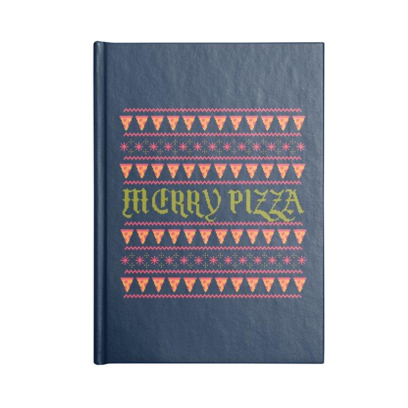 Merry Pizza Accessories Notebook by hillarywhiterabbit's Artist Shop
