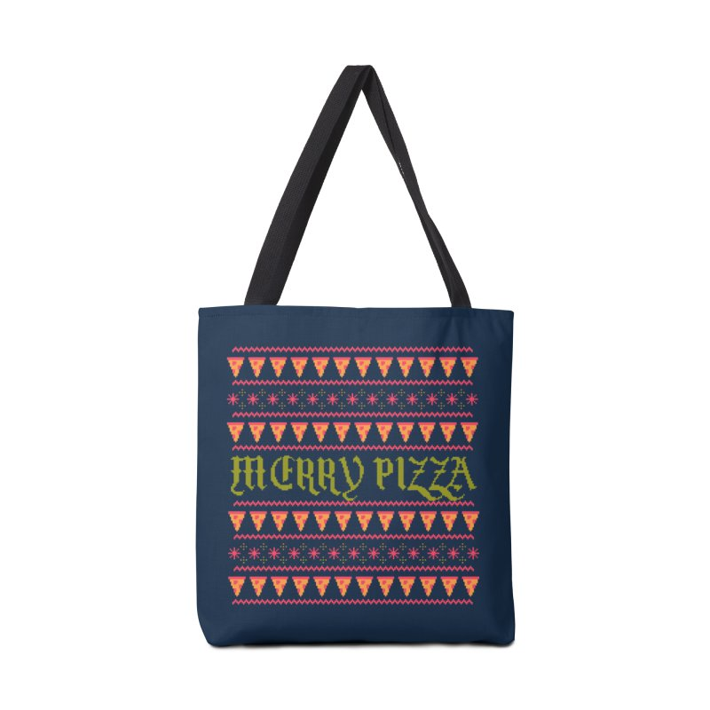 Merry Pizza Accessories Bag by hillarywhiterabbit's Artist Shop