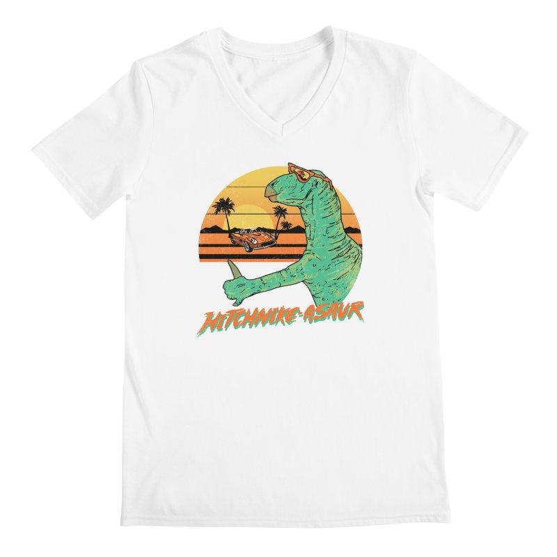 Hitchhike-Asaur Men's V-Neck by hillarywhiterabbit's Artist Shop
