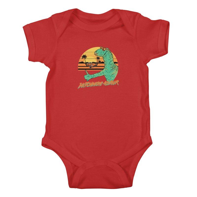 Hitchhike-Asaur Kids Baby Bodysuit by hillarywhiterabbit's Artist Shop