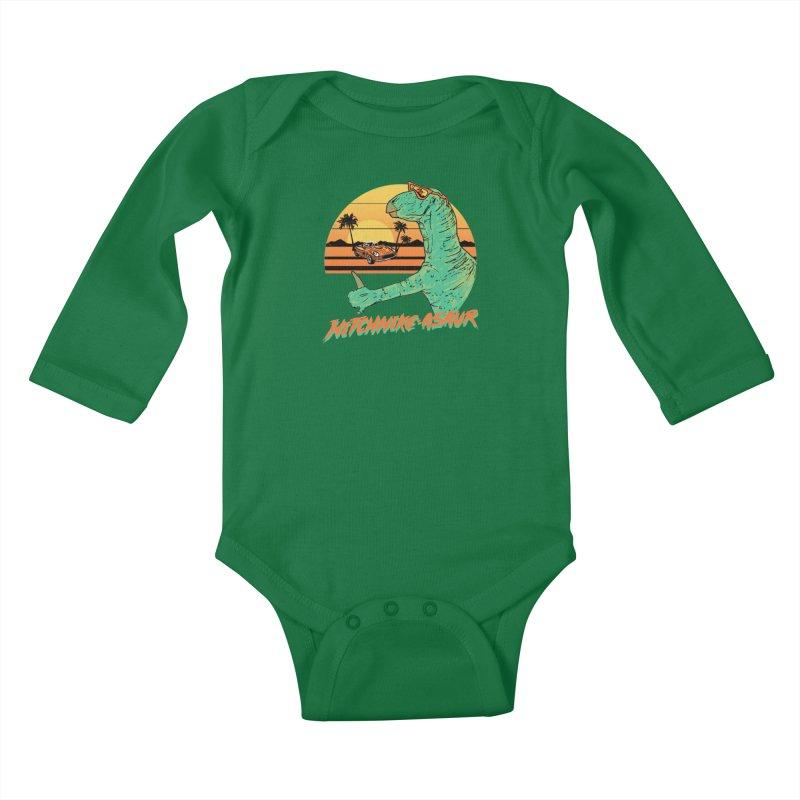 Hitchhike-Asaur Kids Baby Longsleeve Bodysuit by hillarywhiterabbit's Artist Shop