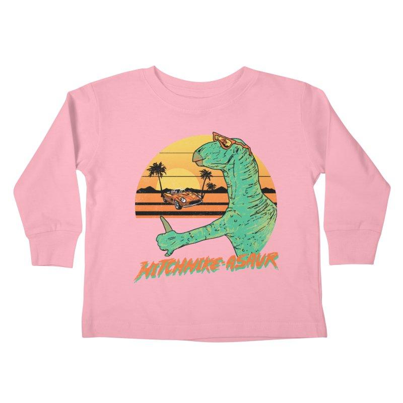 Hitchhike-Asaur Kids Toddler Longsleeve T-Shirt by hillarywhiterabbit's Artist Shop