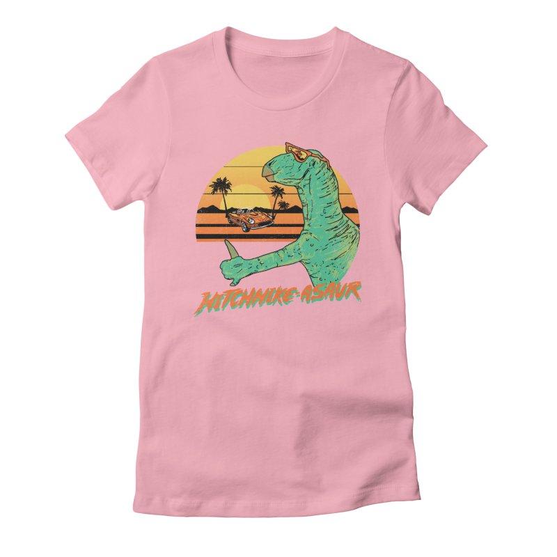 Hitchhike-Asaur Women's Fitted T-Shirt by hillarywhiterabbit's Artist Shop