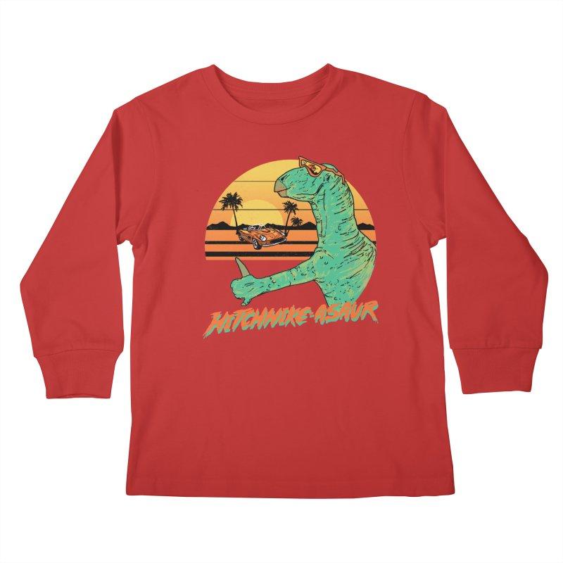 Hitchhike-Asaur Kids Longsleeve T-Shirt by hillarywhiterabbit's Artist Shop