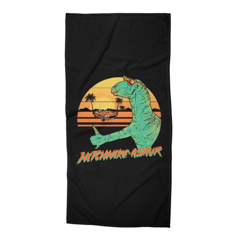 Hitchhike-Asaur Accessories Beach Towel by hillarywhiterabbit's Artist Shop