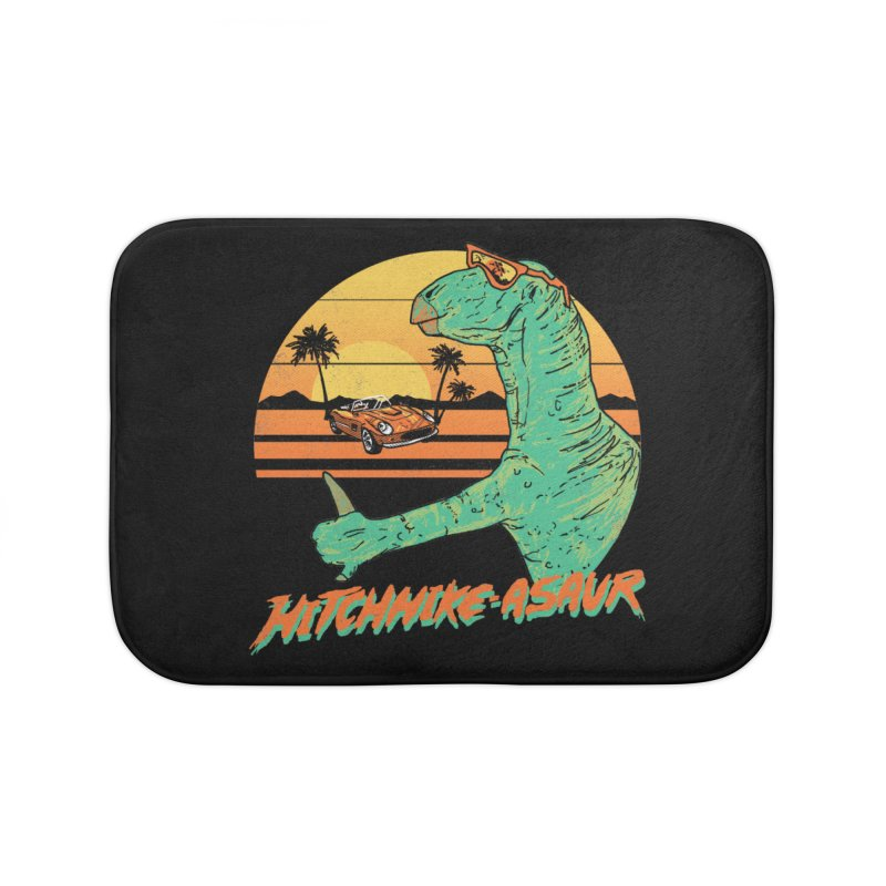 Hitchhike-Asaur Home Bath Mat by hillarywhiterabbit's Artist Shop