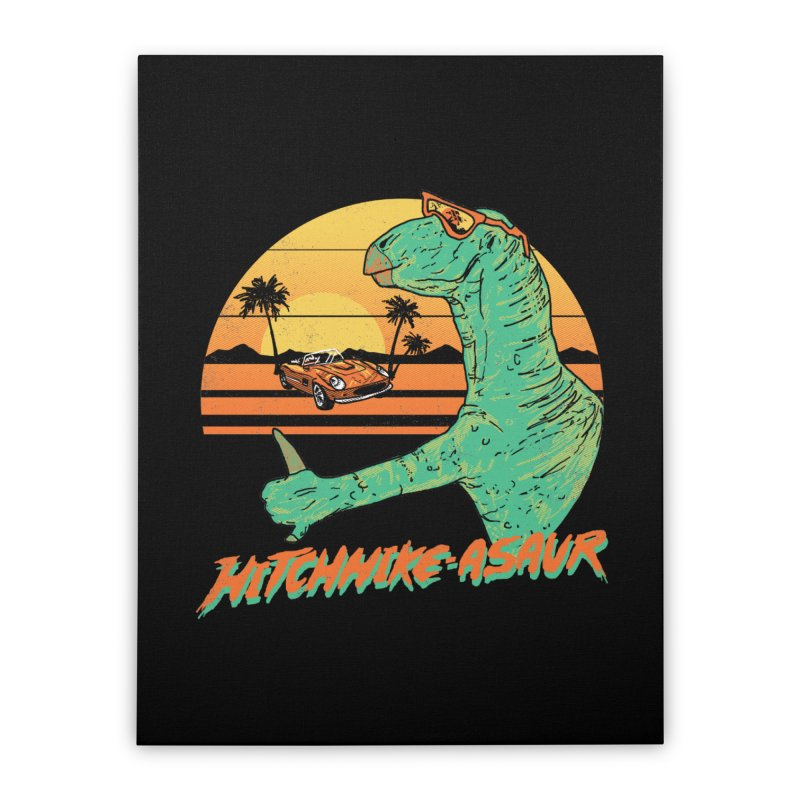Hitchhike-Asaur Home Stretched Canvas by hillarywhiterabbit's Artist Shop