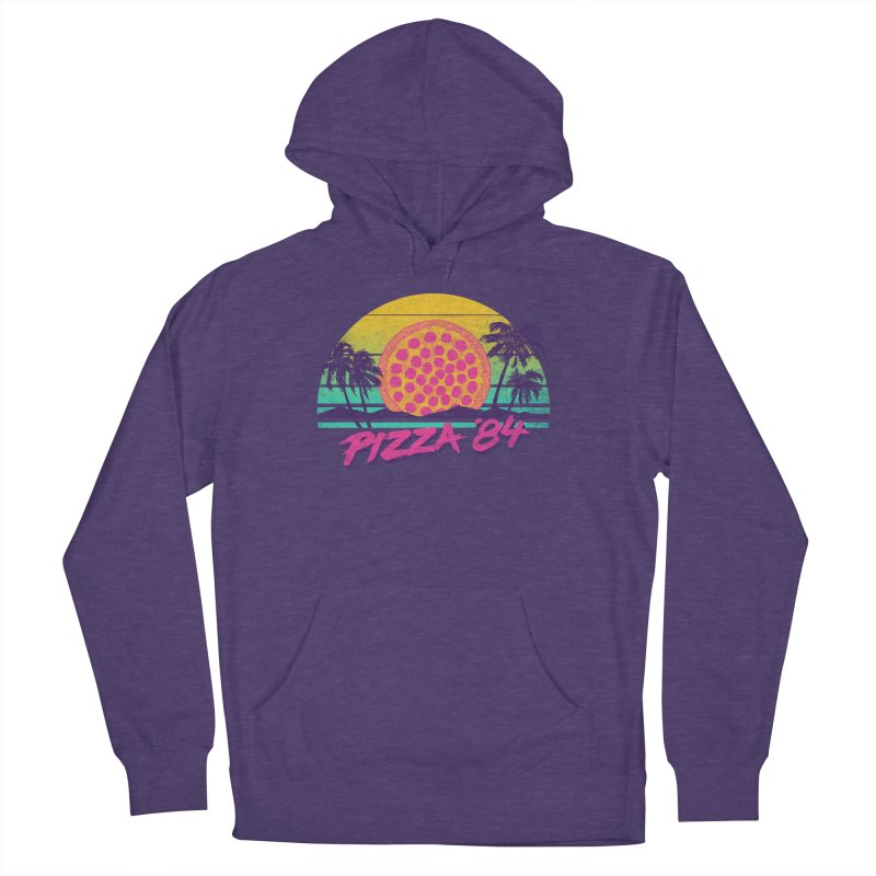 Pizza '84 Women's Pullover Hoody by hillarywhiterabbit's Artist Shop