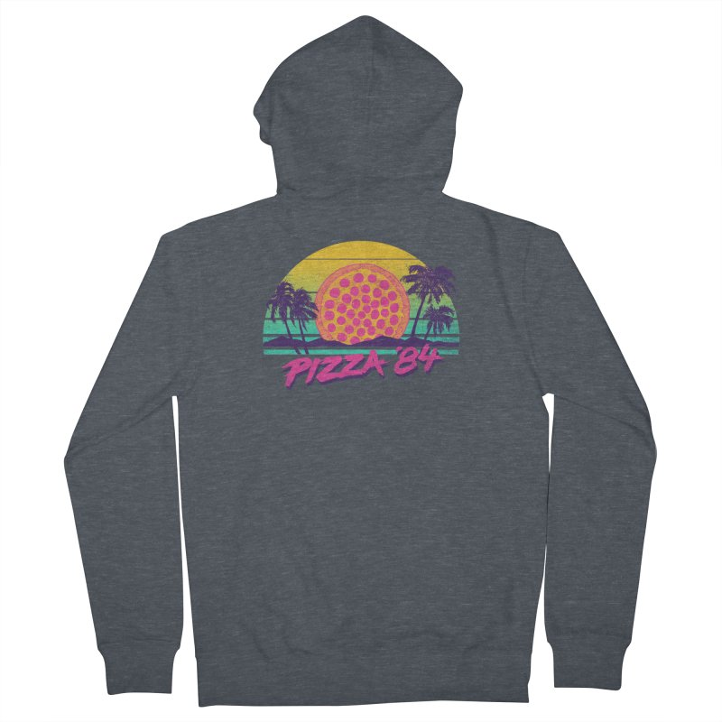 Pizza '84 Men's Zip-Up Hoody by hillarywhiterabbit's Artist Shop